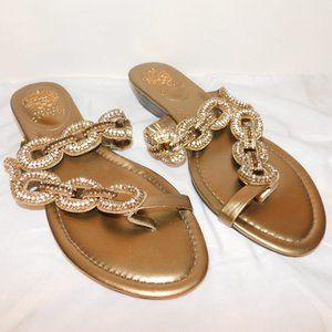 Vince Camuto Bling Sandals Rhinestone Embellished
